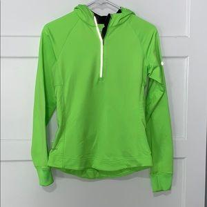 Women's Nike Dri-Fit Pullover Jacket Bright Green